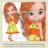 Fruitilicious 4 Cookie Poser Graphics by MarloDee Designs
