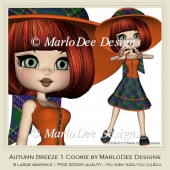 Autumn Breeze 1 Cookie Poser Graphics by MarloDee Designs