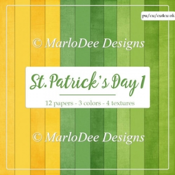 St. Patrick's Day Colors 1 - Cardstock Texture Backgrounds