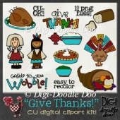Give Thanks! Thanksgiving CU clipart