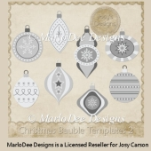 Christmas Baubles (Ornaments) Templates 2