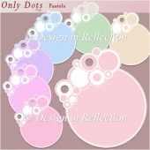 Only Dots Tags - Pastels