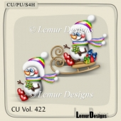 CU Vol. 422 Snowman by Lemur Designs