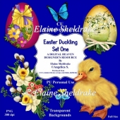 Easter Duckling - Set One - CU Designer Resource For CU/PU