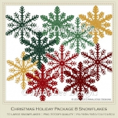 Christmas Holiday Package 8 Snowflakes