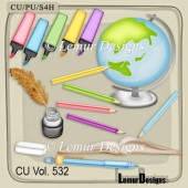 CU Vol 532 School Stuff by Lemur Designs