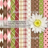Ice Cream Sundae Digital Paper Pack