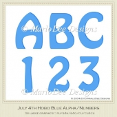 Blue Hobo Style Alphas & Numbers