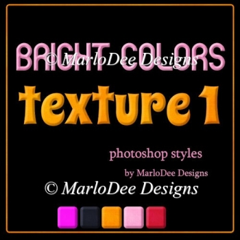 Bright Colors Texture 1 Photoshop Styles by MarloDee Designs