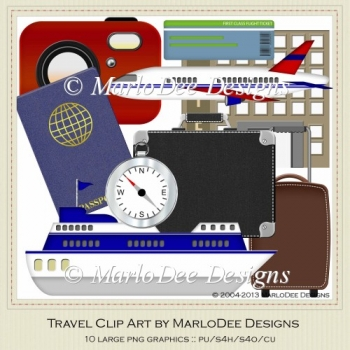 Travel Clip Art by MarloDee Designs