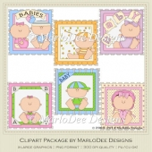 Baby Blocks Clip Art Graphics by MarloDee Designs