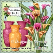 Calla Lillies in Vase Set 1