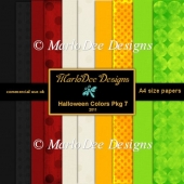 Halloween Colors A4 size Digital Papers Package 7