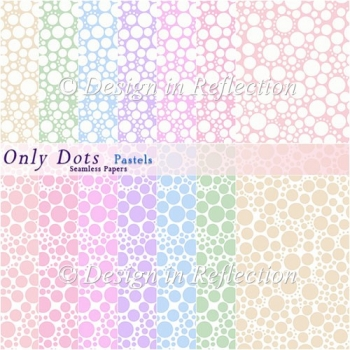 Only Dots Seamless Papers - Pastels