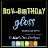 Boy Birthday Gloss Photoshop Styles by MarloDee Designs