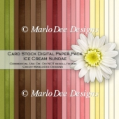Ice Cream Sundae Card Stock Digital Paper Pack {A4 Size}