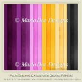 Plum Dreams A4 size Card Stock Digital Papers Package