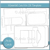 Waterfall Card Kit CU Template