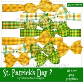 St. Patrick's Day Colors 2 - Plaid Bow Graphics 1