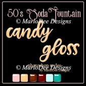 50's Soda Fountain Gloss Photoshop Styles