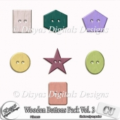 WOODEN BUTTONS CU PACK VOL. 03 - FULL SIZE