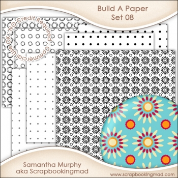 Build A Paper Set 08 - PNG FILES & .PAT File - CU OK