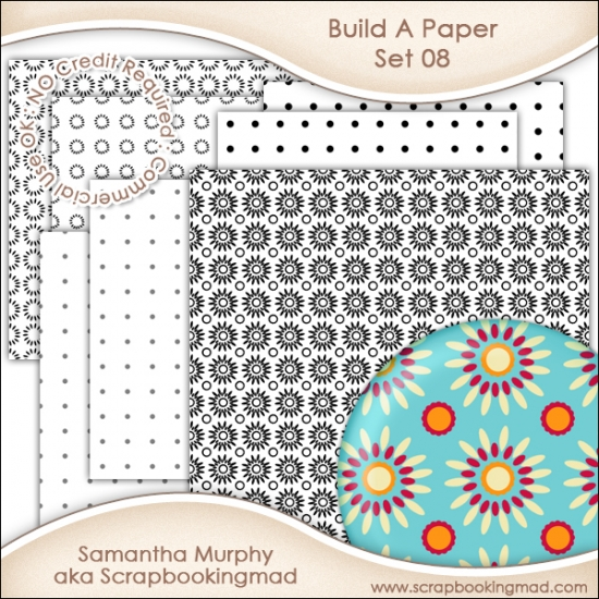 Build A Paper Set 08 - PNG FILES & .PAT File - CU OK - Click Image to Close