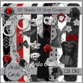 50 Shades Of Grey Scrap Kit