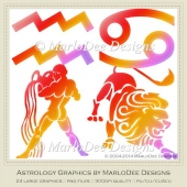 Astrology Graphics Mix Colors Set 2