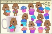 Squishy Bear Cupcake Treats CU Clipart