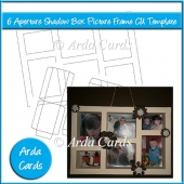 6 Aperture Shadow Box Picture Frame CU Template