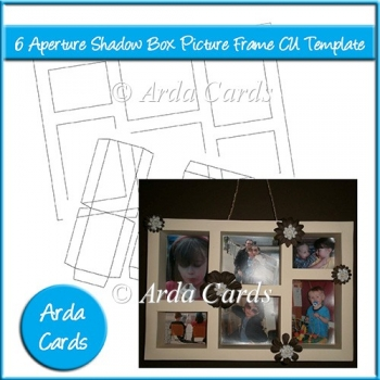 6 aperture shadow box picture frame cu template 3 50 commercial