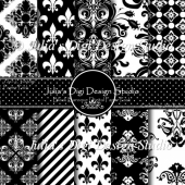 Black Baroque Digital Paper Pack