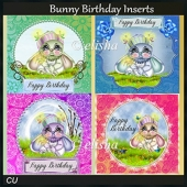 Birthday Bunny Inserts