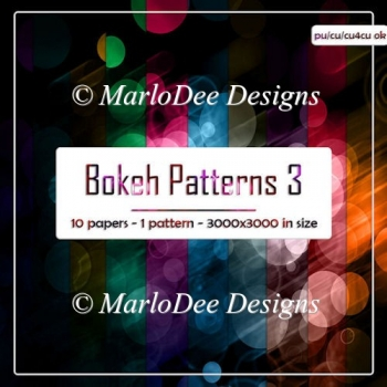 Colorful Bokeh Pattern 3 Digital Papers