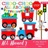 All Aboard the Choo Choo Train Clip Art & Vector Graphics
