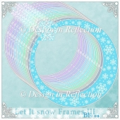 Let It Snow - Blue Frames III
