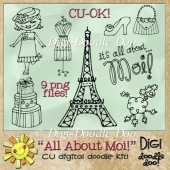 All About Moi! Fun French themed CU doodles