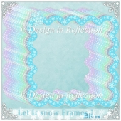 Let It Snow - Blue Frames I