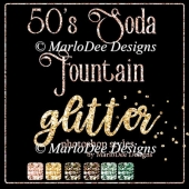 50's Soda Fountain Glitter Photoshop Styles