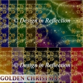 Golden Christmas Papers