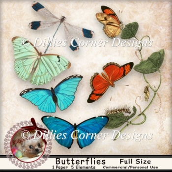 DC_CU Butterfly Clipart