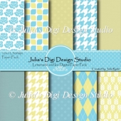 Lemonade and Ice Digital Paper Pack