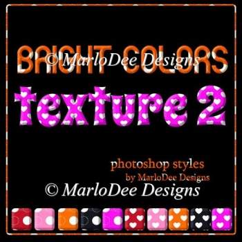 Bright Colors Dot & Heart Patterns Photoshop Styles
