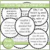 CU Circle Tags Digital Stamps Set 2