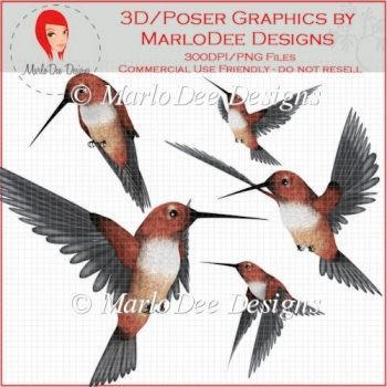 Hummingbird 1 Graphics - Very Large Size - PU/S4H/S4O/CU/CU4CU