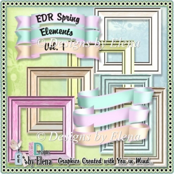 Spring Elements Banners and Frames CU