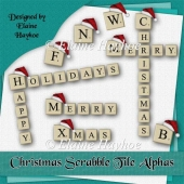 Christmas Scrabble Tile Alphas