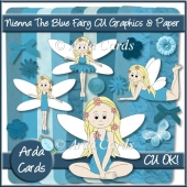 Nienna The Blue Fairy CU Graphics And Paper