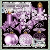 Christmas Candle Setting (Lavender)